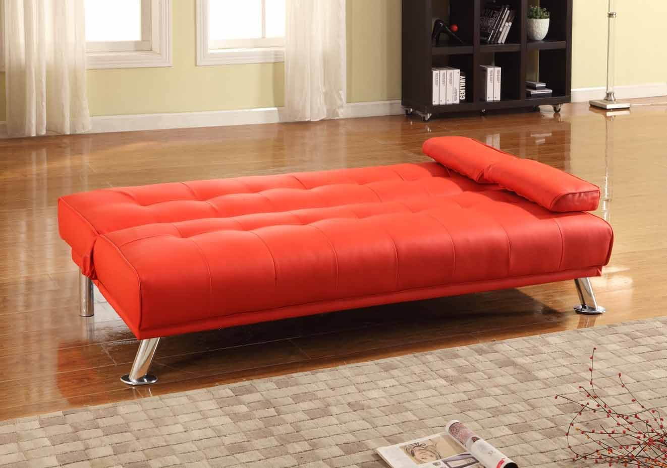 Milan red sofa bed for Sofa bed red