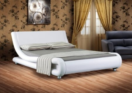 Verona Upholstered Bed White King