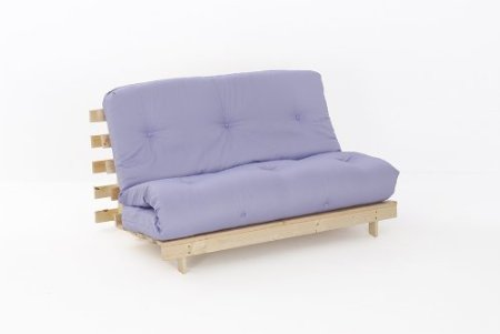 Lilac Double Futon Sofa Bed