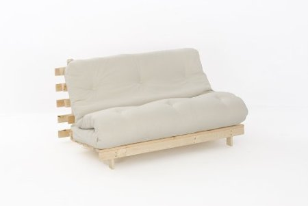 Cream Double Futon Sofa Bed